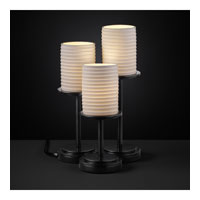 Justice Design Limoges Dakota 3-Light Table Lamp in Matte Black POR-8797-10-SAWT-MBLK