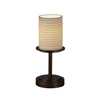 Justice Design Limoges Dakota 1-Light Table Lamp (Short) in Dark Bronze POR-8798-10-SAWT-DBRZ