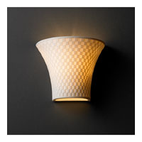 Justice Design Limoges Small Round Flared Wall Sconce POR-8810-CHKR