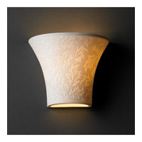Justice Design Limoges Small Round Flared Wall Sconce POR-8810-LEAF