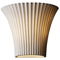 Justice Design POR-8810-PLET Limoges 1 Light 9 inch Wall Sconce Wall Light in Pleats photo thumbnail