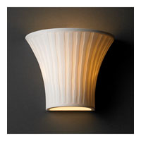 Justice Design Limoges Small Round Flared Wall Sconce POR-8810-WFAL