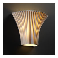 Justice Design Limoges Large Round Flared Wall Sconce POR-8811-PLET