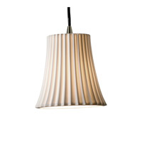 Limoges 1 Light 4 inch Brushed Nickel Pendant Ceiling Light in Cord, Pleats, Round Flared