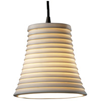 Justice Design Limoges Pendants Mini 1-Light Pendant in Dark Bronze POR-8815-20-SAWT-DBRZ