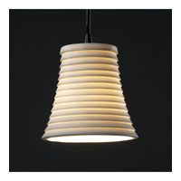 Justice Design Limoges Pendants Mini 1-Light Pendant in Matte Black POR-8815-20-SAWT-MBLK