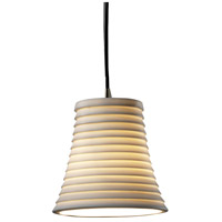 Limoges 1 Light 6 inch Brushed Nickel Pendant Ceiling Light in Cord, Sawtooth, Round Flared