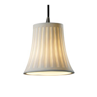 Limoges 1 Light 4 inch Antique Brass Pendant Ceiling Light in Cord, Waterfall, Round Flared