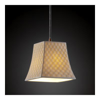 Justice Design Limoges Pendants Mini 1-Light Pendant in Dark Bronze POR-8815-40-CHKR-DBRZ