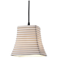 Justice Design Limoges Pendants Mini 1-Light Pendant in Matte Black POR-8815-40-SAWT-MBLK