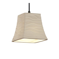 Justice Design Limoges Pendants Mini 1-Light Pendant in Dark Bronze POR-8815-40-WAVE-DBRZ