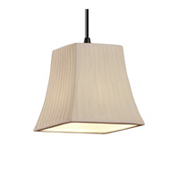 Justice Design Limoges Pendants Mini 1-Light Pendant in Dark Bronze POR-8815-40-WFAL-DBRZ