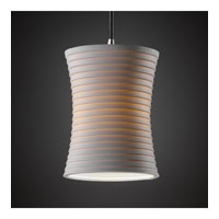 Justice Design Limoges Pendants Mini 1-Light Pendant in Brushed Nickel POR-8815-60-SAWT-NCKL