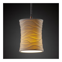 Justice Design Limoges Pendants Mini 1-Light Pendant in Dark Bronze POR-8815-60-WAVE-DBRZ
