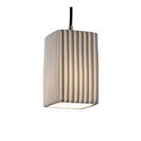 Justice Design Limoges Pendants Small 1-Light Pendant in Brushed Nickel POR-8816-15-PLET-NCKL