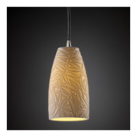 Justice Design Limoges Pendants Small 1-Light Pendant in Brushed Nickel POR-8816-28-BMBO-NCKL