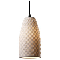 Justice Design Limoges Pendants Small 1-Light Pendant in Dark Bronze POR-8816-28-CHKR-DBRZ