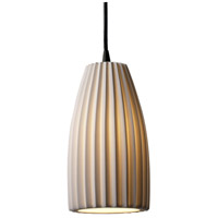 Justice Design Limoges Pendants Small 1-Light Pendant in Matte Black POR-8816-28-PLET-MBLK
