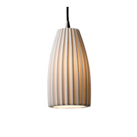 Limoges 1 Light 4 inch Brushed Nickel Pendant Ceiling Light in Cord, Pleats, Tall Tapered Cylinder