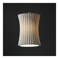 Justice Design Limoges Pendants Small 1-Light Pendant in Brushed Nickel POR-8816-60-PLET-NCKL