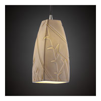 Justice Design Limoges Pendants Small 1-Light Pendant in Brushed Nickel POR-8816-65-BANL-NCKL