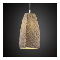 Limoges 1 Light 5 inch Brushed Nickel Pendant Ceiling Light in Cord, Bamboo, Tall Tapered Square