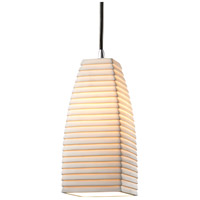 Limoges 1 Light 5 inch Polished Chrome Pendant Ceiling Light in Cord, Sawtooth, Tall Tapered Square
