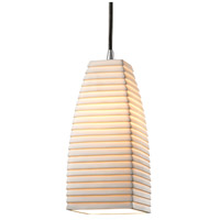 Limoges 1 Light 5 inch Brushed Nickel Pendant Ceiling Light in Cord, Sawtooth, Tall Tapered Square