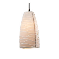 Justice Design Limoges Pendants Small 1-Light Pendant in Brushed Nickel POR-8816-65-WAVE-NCKL
