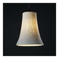 Justice Design Limoges Pendants Large 1-Light Pendant in Brushed Nickel POR-8817-20-LEAF-NCKL