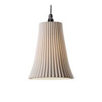 Justice Design Limoges Pendants Large 1-Light Pendant in Brushed Nickel POR-8817-20-PLET-NCKL