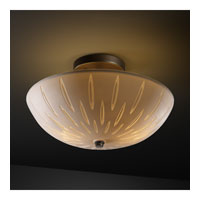 Limoges 2 Light Dark Bronze Semi-Flush Bowl Ceiling Light
