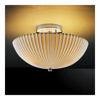 Limoges 2 Light Polished Chrome Semi-Flush Bowl Ceiling Light
