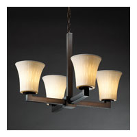 Justice Design Limoges Modular 4-Light Chandelier (Halogen) in Dark Bronze POR-8820-20-OVAL-DBRZ