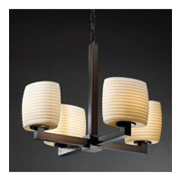 Justice Design Limoges Modular 4-Light Chandelier (Halogen) in Dark Bronze POR-8820-30-SAWT-DBRZ