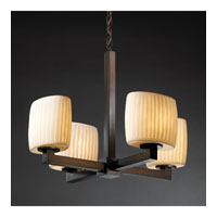Justice Design Limoges Modular 4-Light Chandelier (Halogen) in Dark Bronze POR-8820-30-WFAL-DBRZ