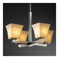 Justice Design Limoges Modular 4-Light Chandelier (Halogen) in Brushed Nickel POR-8820-40-OVAL-NCKL