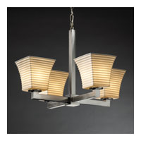 Justice Design Limoges Modular 4-Light Chandelier (Halogen) in Brushed Nickel POR-8820-40-SAWT-NCKL