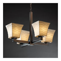 Justice Design Limoges Modular 4-Light Chandelier (Halogen) in Dark Bronze POR-8820-40-WAVE-DBRZ