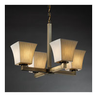 Justice Design Limoges Modular 4-Light Chandelier (Halogen) in Antique Brass POR-8820-40-WFAL-ABRS
