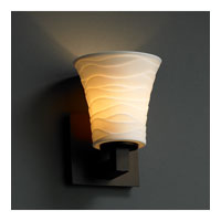 Justice Design Limoges Modular 1-Uplight Wall Sconce (Halogen) in Dark Bronze POR-8821-20-WAVE-DBRZ