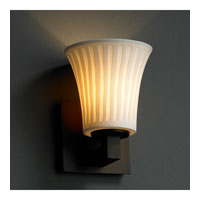 Justice Design Limoges Modular 1-Uplight Wall Sconce (Halogen) in Dark Bronze POR-8821-20-WFAL-DBRZ