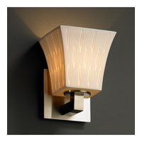 Justice Design Limoges Modular 1-Uplight Wall Sconce (Halogen) in Brushed Nickel POR-8821-40-OVAL-NCKL