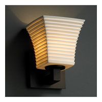 Justice Design Limoges Modular 1-Uplight Wall Sconce (Halogen) in Dark Bronze POR-8821-40-SAWT-DBRZ