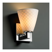 Justice Design Limoges Modular 1-Uplight Wall Sconce (Halogen) in Polished Chrome POR-8821-50-CHKR-CROM