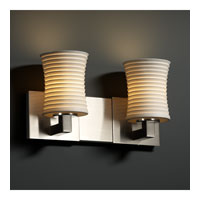 Justice Design Limoges Modular 2-Uplight Bath Bar (Halogen) in Brushed Nickel POR-8822-60-SAWT-NCKL photo thumbnail