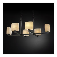 Justice Design Limoges Modular 6-Uplight Crossbar Chandelier in Dark Bronze POR-8826-30-WAVE-DBRZ photo thumbnail