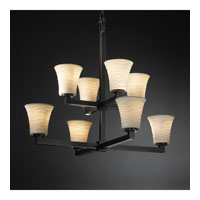 Justice Design Limoges Modular 8-Light 2-Tier Chandelier in Dark Bronze POR-8828-20-WAVE-DBRZ