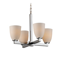 Justice Design Limoges Modular 4-Light Chandelier in Polished Chrome POR-8829-18-SAWT-CROM