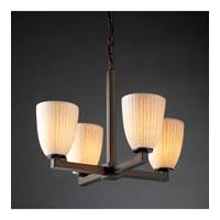 Justice Design Limoges Modular 4-Light Chandelier in Dark Bronze POR-8829-18-WFAL-DBRZ